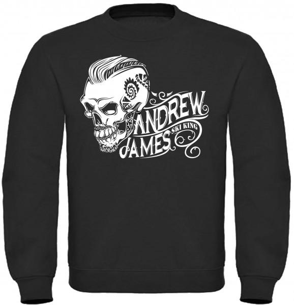 Andrew James Ski King Tattooed Skull Männer Sweatshirt