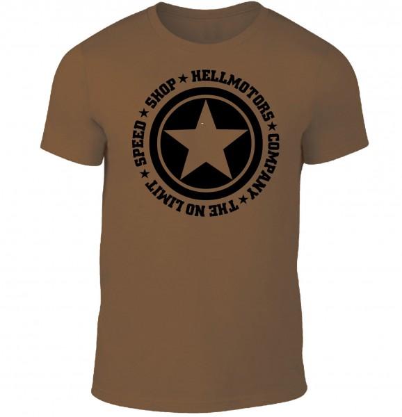 """Herren T-Shirt """"Speed Limit"""" Braun"""