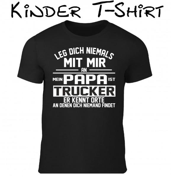 "Kinder T-Shirt ""Papa ist Trucker"""