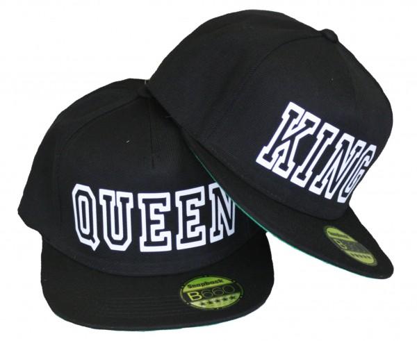 """SNAPBACK CAP """"King & Queen"""" schwarz"""