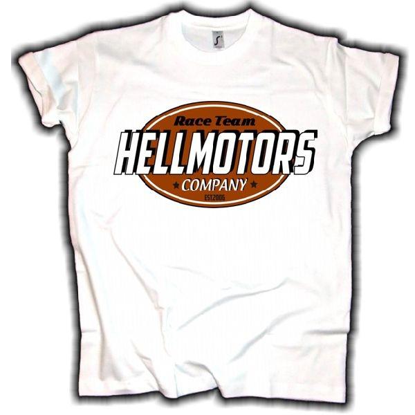 "Herren T-Shirt ""Hellmotors Race Logo"" weiss"