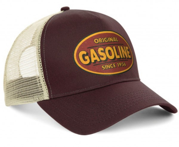 "HELLMOTORS Trucker CAP ""Vintage Gasoline"" chocolate"