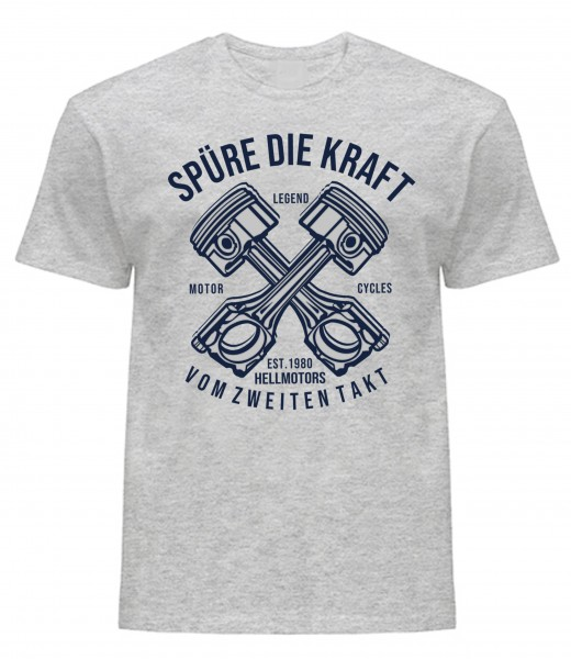 T-Shirt - Zweitakter-grau melliert