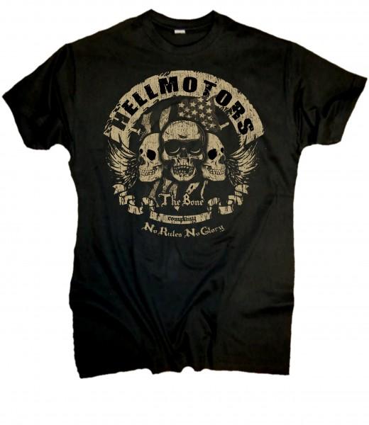 Herren Biker T-Shirt The Skull Bone