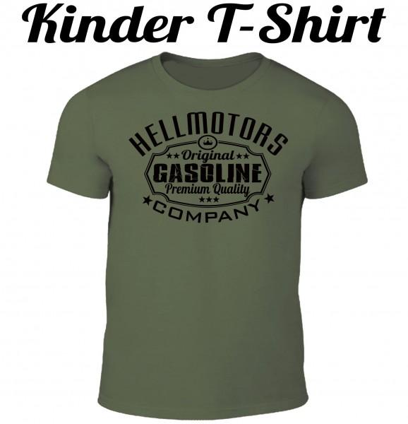 Kinder T-Shirt Gasoline in oliv/schwarz