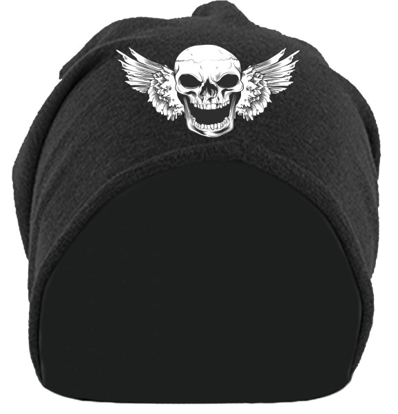 Skull Face Beanie schwarz