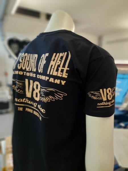 US CAR V8 T-Shirt SOUND OF HELL new black