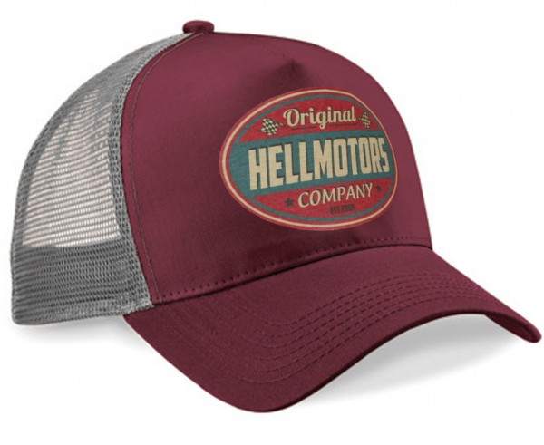 "HELLMOTORS CAP ""Hellmotors Original"" Burgund/Grau"