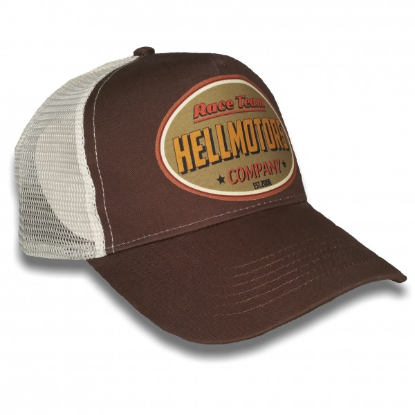 "HELLMOTORS Trucker CAP ""Race Team Retro"" chocolate"